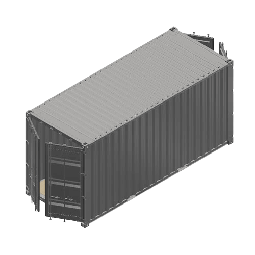 Containerumbau 20ft High Cube Doubledoor