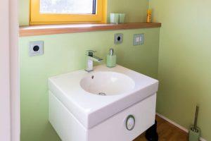 Container mit Heizung und Sanitäranlagen